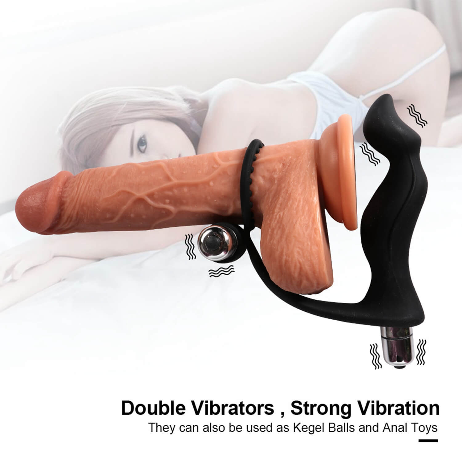 China amazon silicone adult vibrating cock ring sex vibrator for men couple
